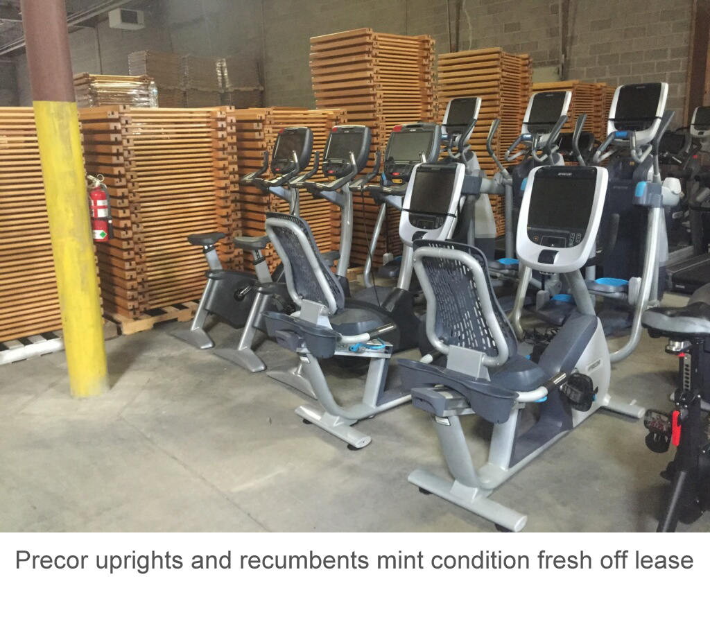 Precor uprights and recumbents mint condition fresh off lease