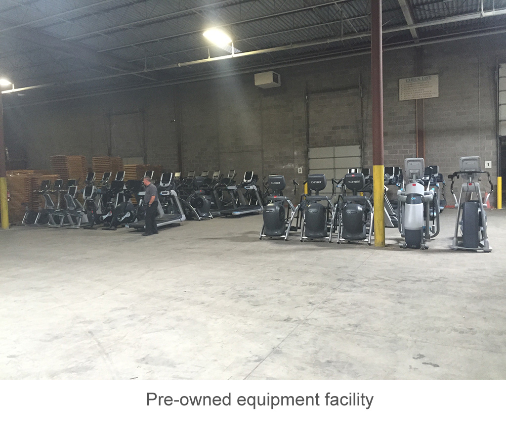 Pre-owned equipment facility