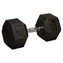 95 Lb Rubber Hex Dumbbell