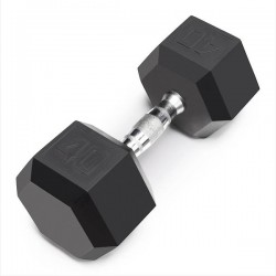 40 Lb Rubber Hex Dumbbell